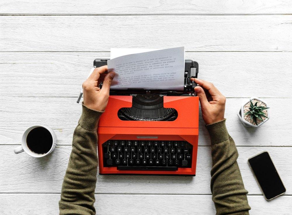 Freelancer writing freelance work
