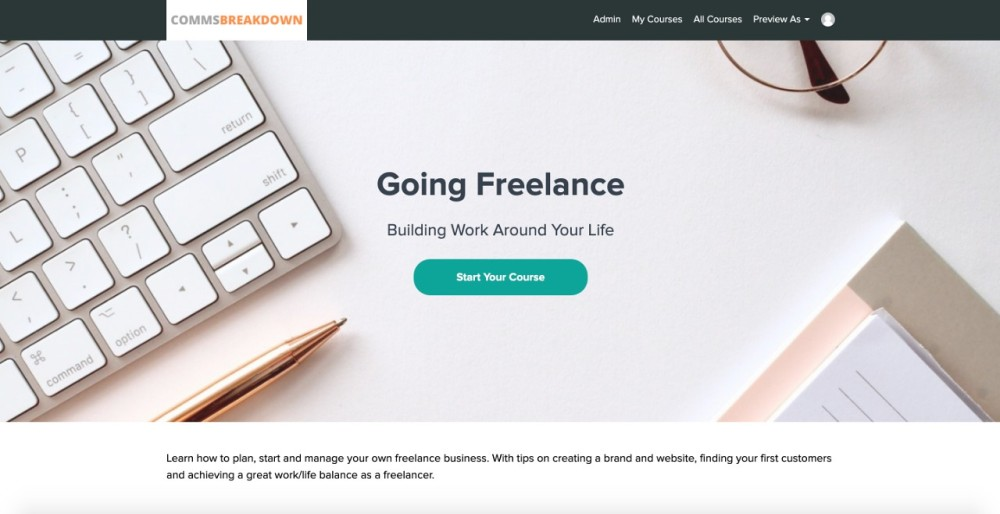 Going Freelance, freelance, freelancing, freelancer, self-employed, solopreneur, digital nomad, online course, online learning, learning