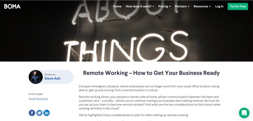 BOMA Marketing, guest post, Steve Ash, CommsBreakdown, remote work, remote working, home working