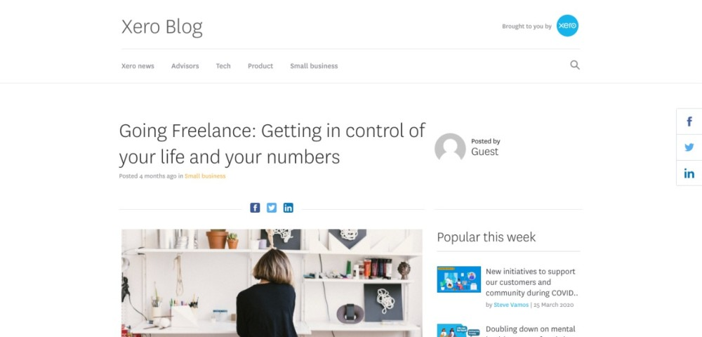 Xero, guest post, Steve Ash, CommsBreakdown, freelance, freelancing